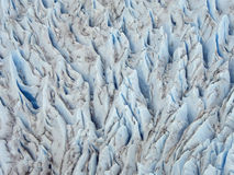 Aerial View of Crevasse of Glacier Royalty Free Stock Photo
