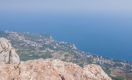 Aerial view of Crimea Stock Images