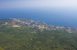 Aerial view of Crimea Royalty Free Stock Photo