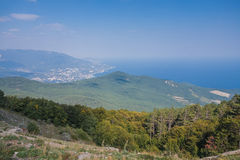 Aerial view of Crimea Royalty Free Stock Photos
