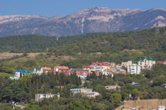 Aerial view of Crimea Royalty Free Stock Photography