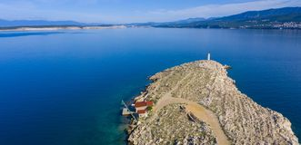 Aerial view in croatia royalty free stock photos