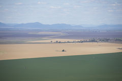 Aerial view of crop and wheat farmland Australia Royalty Free Stock Photos