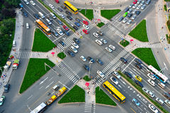Aerial view of the crossroads in Qingdao, China Royalty Free Stock Photography