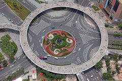 Aerial view of the crossroads in Shanghai, China Stock Images
