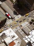 Aerial view of crosswalk in Bogota, Colombia. Stock Images