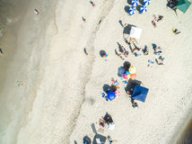 Aerial View of Crowd of People, Rio de Janeiro, Brazil Stock Photography