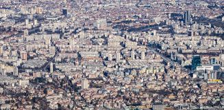Aerial View Crowded Urban Royalty Free Stock Image