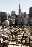 Aerial view the crowed skyline of San Francisco from north Royalty Free Stock Image