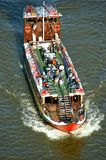 Aerial view of cruise ship in Douro river royalty free stock photos