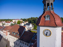 Aerial view ctown hall schmoelln thuringia germany Stock Photo