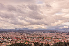 Aerial View Of Cuenca City Stock Photo