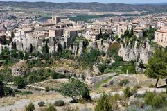 Aerial view of Cuenca, Spain Royalty Free Stock Photos