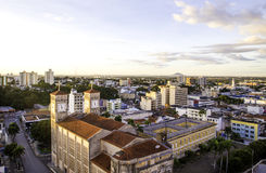 Aerial view of Cuiaba city, Brazil.  Stock Photo