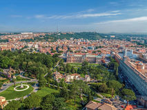 Aerial view from the cupola of Vatican Papal Basilica Royalty Free Stock Photos