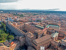 Aerial view from the cupola of Vatican Papal Basilica Royalty Free Stock Photography
