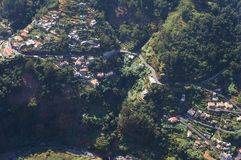 Cural das freiras. Aerial view of Cural das freiras2 valley in Madeira Stock Photo