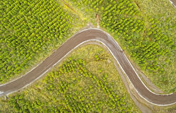 Aerial View Curved Road Cotopaxi Ecuador Stock Image