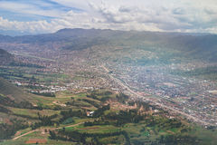 Aerial view on Cusco city Stock Photography