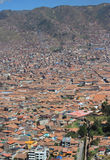 Aerial view of Cusco city Royalty Free Stock Photo