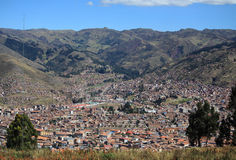 Aerial view of Cusco city Stock Image