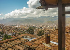 Aerial View of Cusco from Hostel Stock Photo