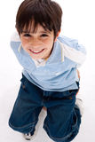 Aerial view of cute kid Stock Photo