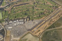 Aerial view of the cute Palo Alto Airport. At San Francisco Stock Image