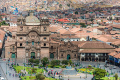 Aerial view of Cuzco city peruvian Andes Royalty Free Stock Image