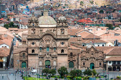 Aerial view of Cuzco city in the peruvian Andes Royalty Free Stock Photos