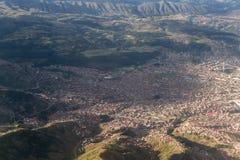 Aerial view of Cuzco Peru Stock Images