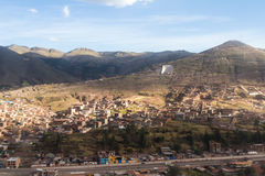 Aerial view of Cuzco Peru Royalty Free Stock Photography