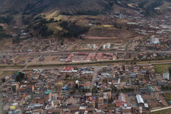 Aerial view of Cuzco Peru Royalty Free Stock Images