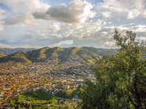 Aerial View of Cuzco Peru Stock Images