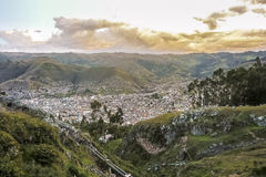 Aerial View of Cuzco Peru Royalty Free Stock Photos
