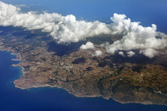 Aerial view on Cyprus Stock Photo