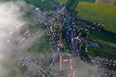Aerial view of Czech Republic rural landscape, Vysocina region, Czechia Stock Photo