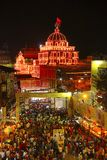 Aerial view of Dagadu Seth Ganapati decorated pandal, replica of Brahmanaspati Temple. Pune Royalty Free Stock Images