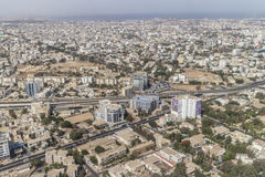 Aerial view of Dakar Stock Image