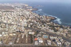 Aerial view of Dakar Royalty Free Stock Images