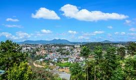 Aerial view of Dalat, Vietnam stock images