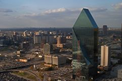 Aerial view of Dallas. Bird\'s eye view of downtown Dallas Royalty Free Stock Image
