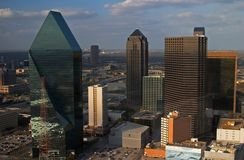 Aerial view of Dallas. Bird\'s eye view of downtown Dallas Royalty Free Stock Images