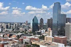 Aerial view of Dallas, Texas Royalty Free Stock Photos