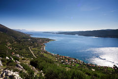 Aerial view of dalmatian islands Royalty Free Stock Images