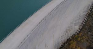 Aerial view of a dam stock video footage