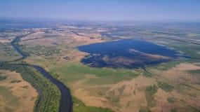 Danube Delta, Romania. Aerial view of Danube Delta, Romania, Europe stock photos