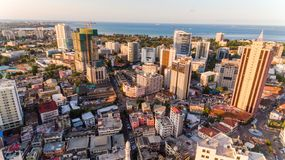 Aerial view of Dar es Salaam city, Tanzania. Aerial view of Dar es Salaam city royalty free stock photo