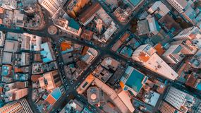 Aerial view of Dar es Salaam city, Tanzania. Aerial view of Dar es Salaam city royalty free stock images