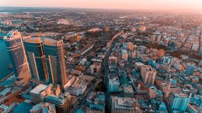 Aerial view of Dar es Salaam city, Tanzania. Aerial view of Dar es Salaam city stock image